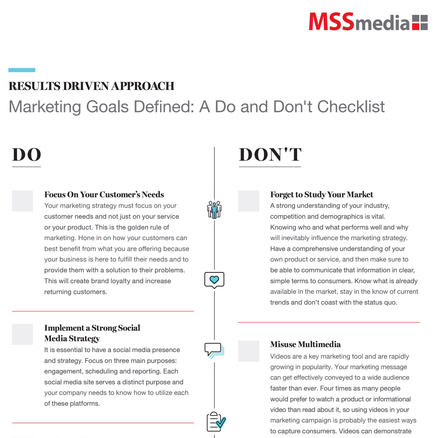 Worksheet Thumbnail - Do and Dont Checklist