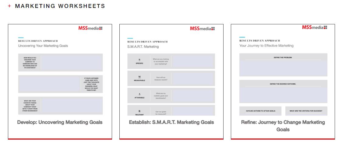 Marketing Worksheets