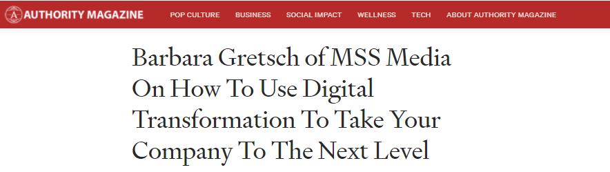 AUTHORITY MAG Digital Transformation