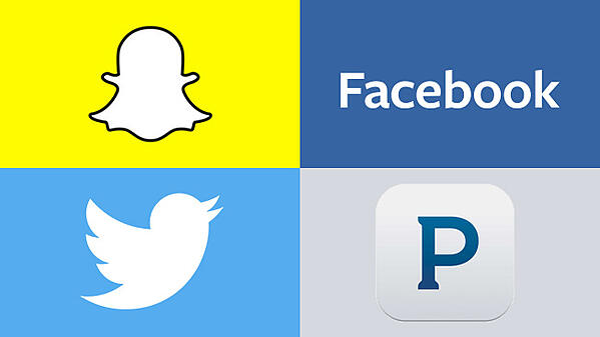 facebook-pandora-twitter-snapchat
