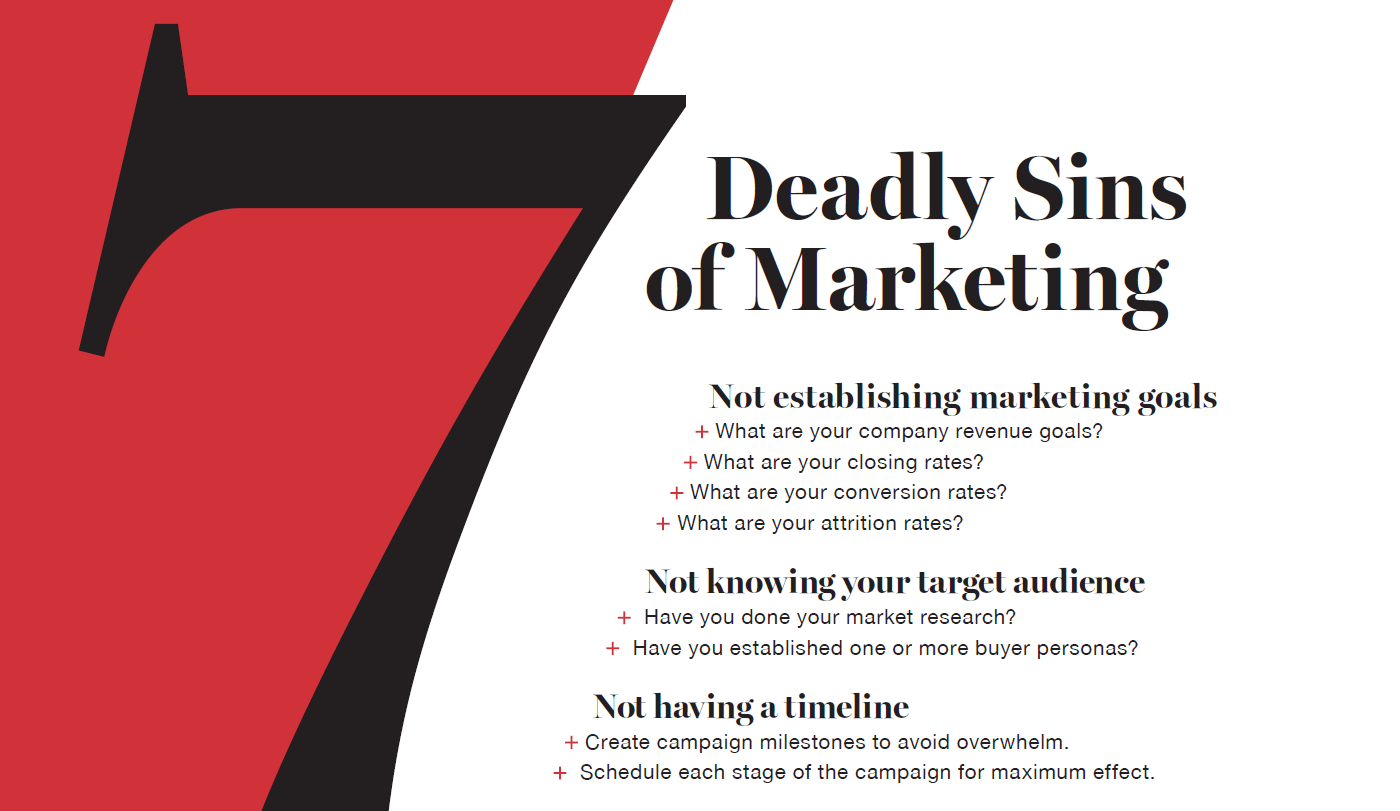 7 Deadly Sins of Marketing Infographic